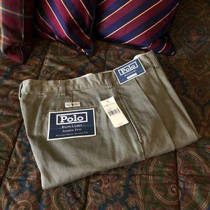 POLO Ralph Lauren Olive 'Andrew' Pleated Chino 38W